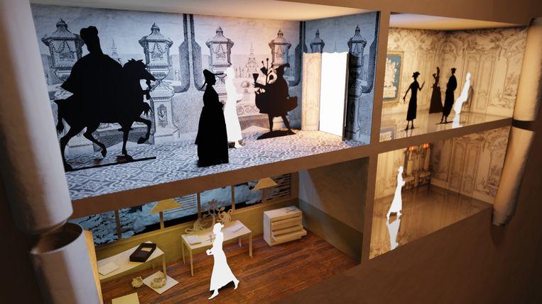 Het poppenhuis, door Eline Janssens geknipt met scènes uit het leven van Johanna Koerten.  Beeld