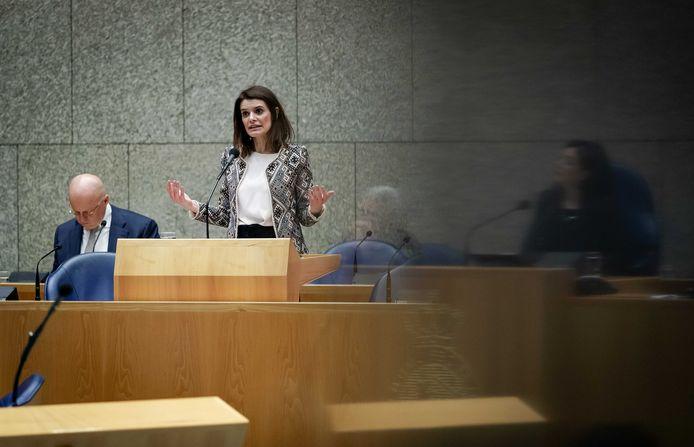 Staatssecretaris Barbara Visser in de Tweede Kamer