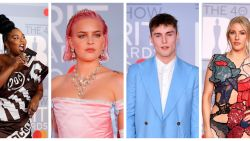 IN BEELD. Muzikanten bekennen kleur op rode loper Brit Awards