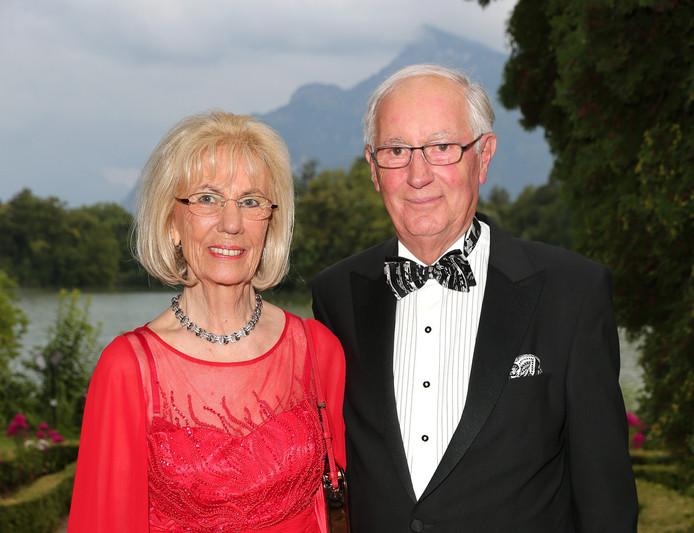 De overleden MediaMarkt-oprichter Erich Kellerhals en zijn vrouw Helga.