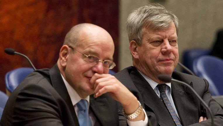 De 'crimefighters' van het kabinet: Fred Teeven en Ivo Opstelten Beeld ANP
