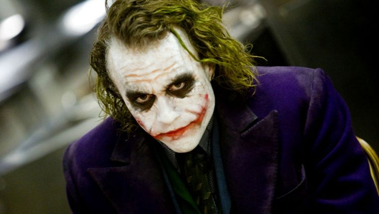 Heath Ledger als Joker in The Dark Knight (2008) Beeld
