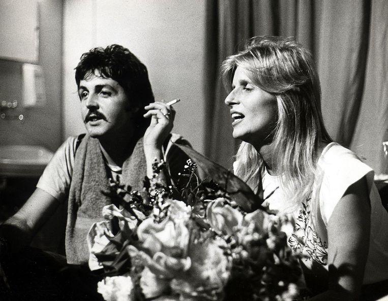 Paul en Linda McCartney in 1976. Beeld anp