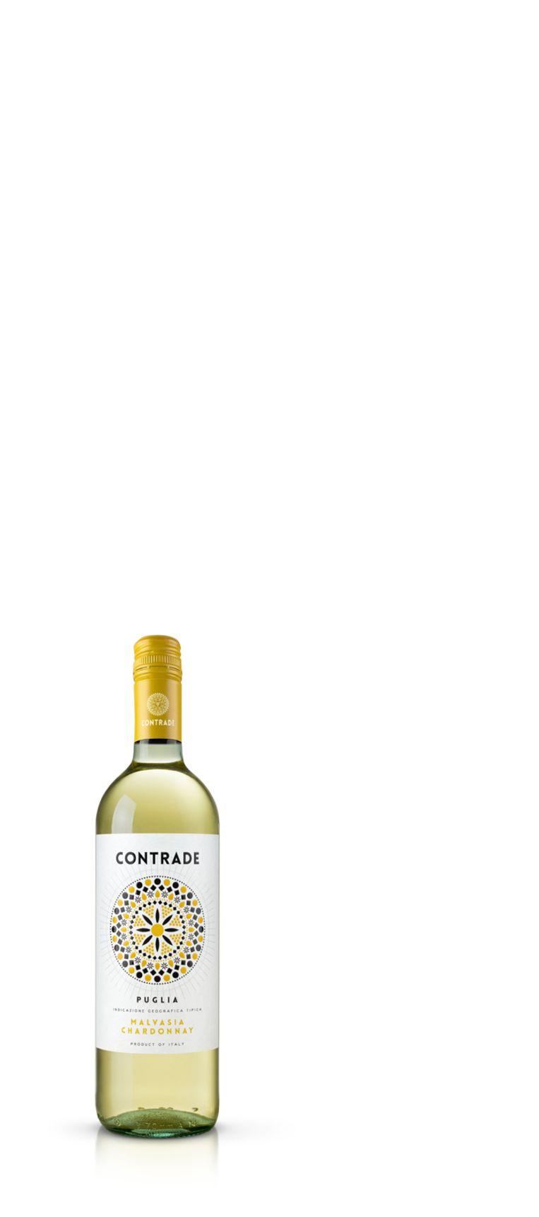 Contrade 2019, Chardonnay Malvasia, Puglia, Italië, €7,50 (wit). Wijnkoperij De Gouden Ton, Willemsparkweg 158, Utrechtsestraat 94  Beeld