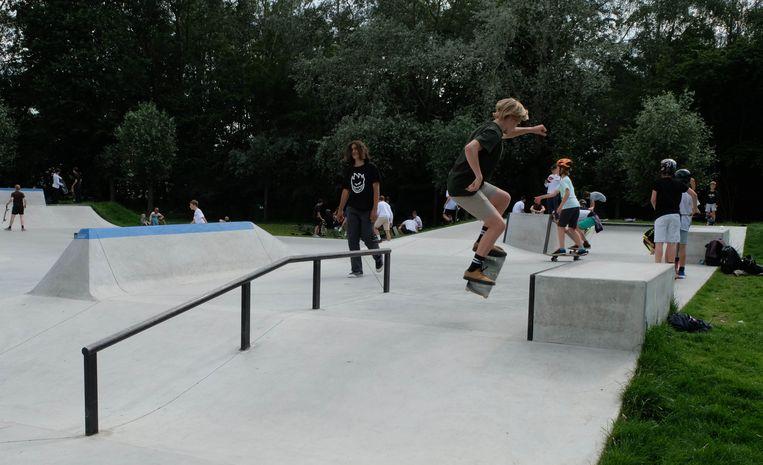 Het skatepark in Hallaar
