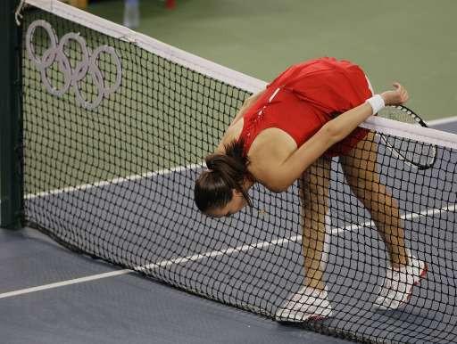 La N1 mondiale a été éliminée en quarts des JO par Safina.