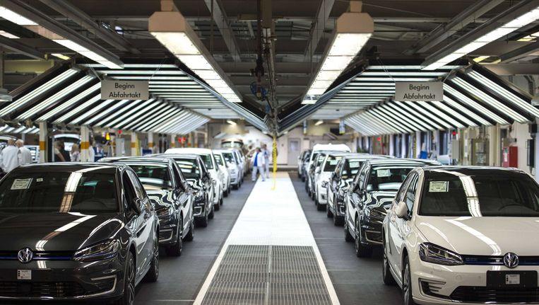 Volkswagenfabriek in het Duitse Wolfburg. Beeld afp