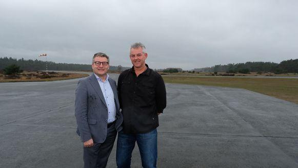 Minister Koen Van den Heuvel kwam recent nog de plannen voor het vliegveld toelichten.