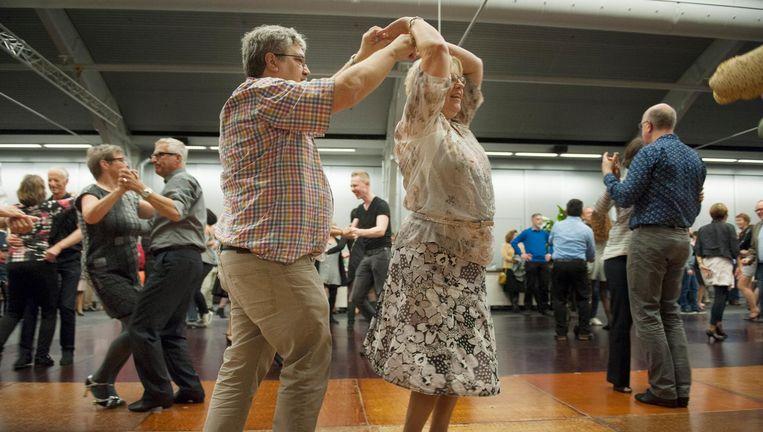 Voetjes van de vloer op Meet & Dance in de Brabanthallen in Den Bosch. Beeld An-Sofie Kesteleyn / de Volkskrant