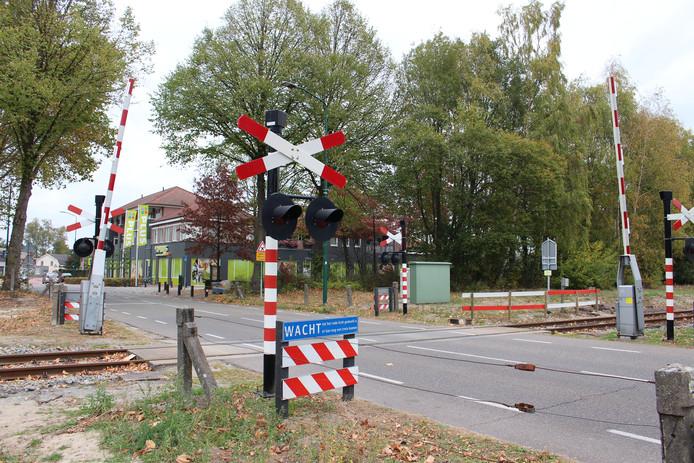 De spoorwegovergang bij de Grootschoterweg in Budel-Schoot