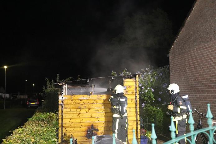 Schuurtje met sauna uitgebrand op camping in Kaatsheuvel.