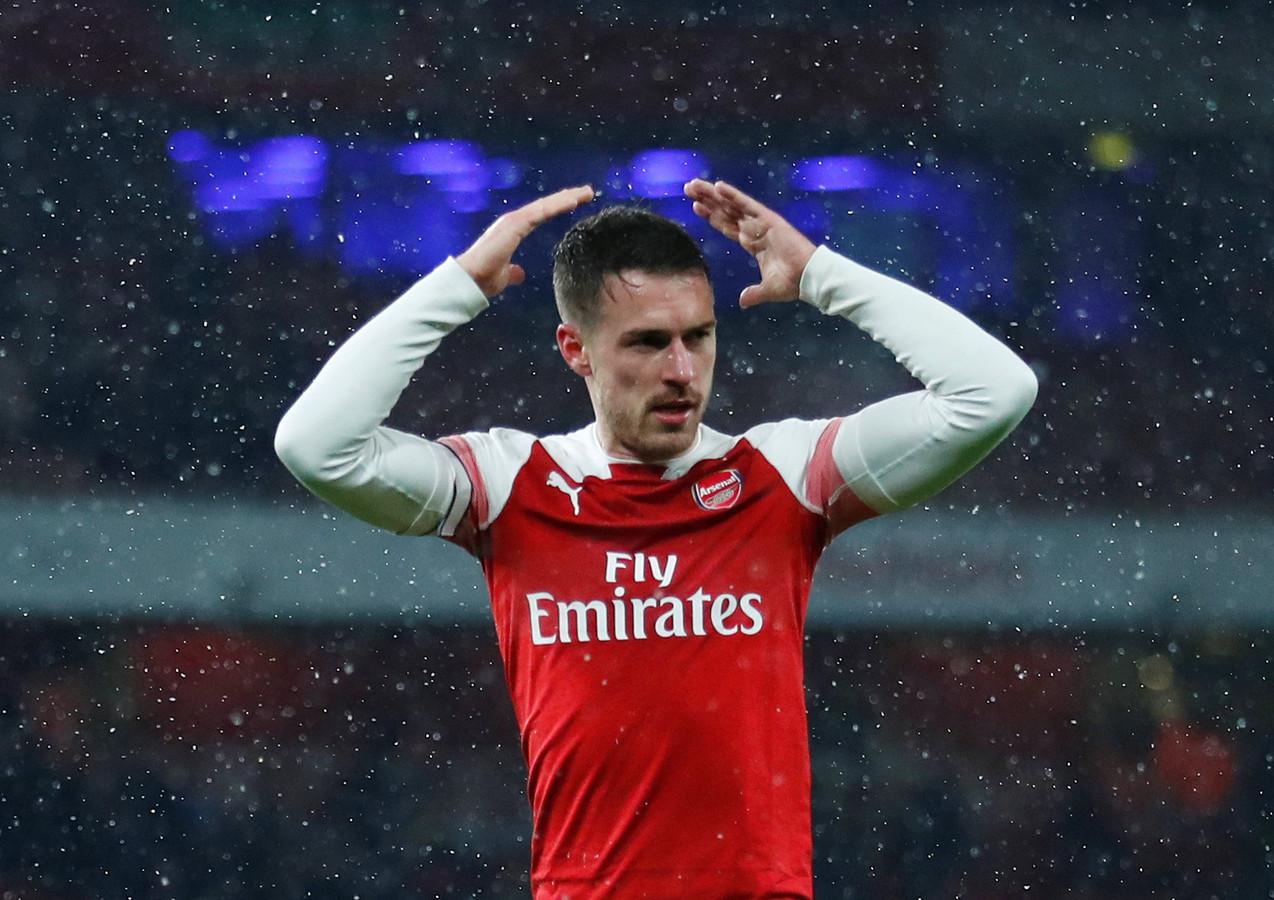Aaron Ramsey in het shirt van Arsenal.