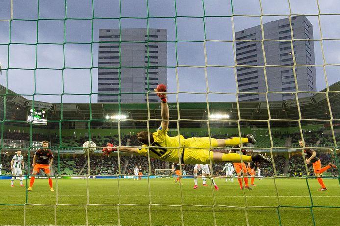 De voorlopig laatste wedstrijd in de eredivisie: FC Groningen-PSV (0-1) van zondag 8 maart.