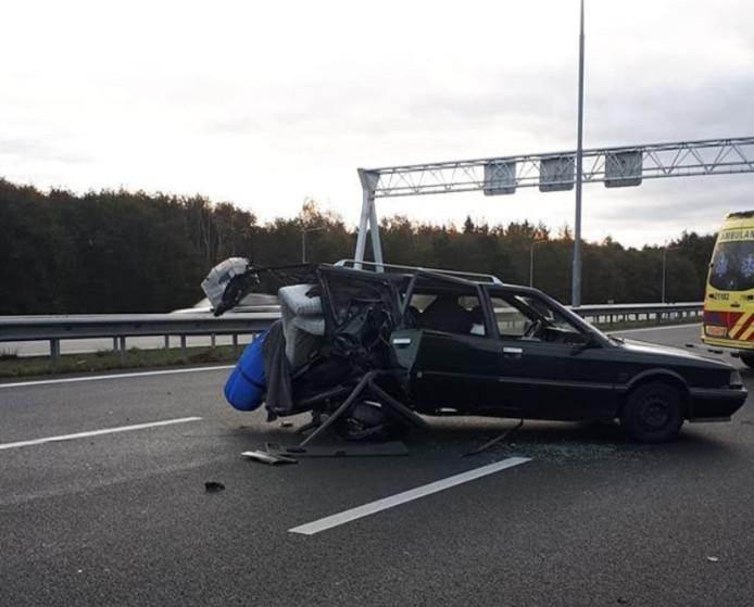 Twee gewonden bij ongeluk op de A2 bij Best.
