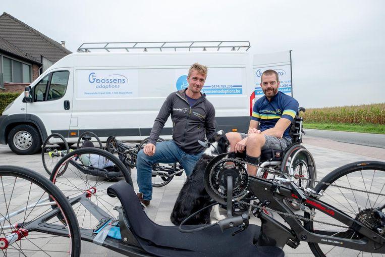 Frank Van Linden en Jelle Veyt trekken met de handbike van Oostende naar Zuid-Frankrijk.