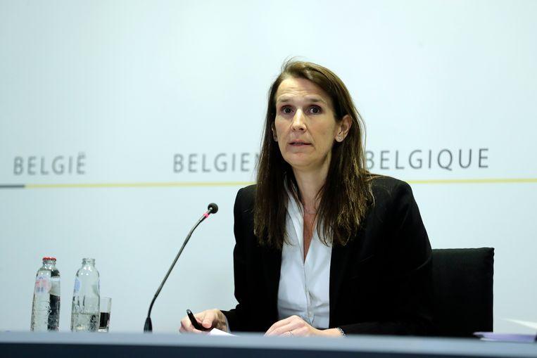 De Belgische premier Sophie Wilmès. Beeld EPA