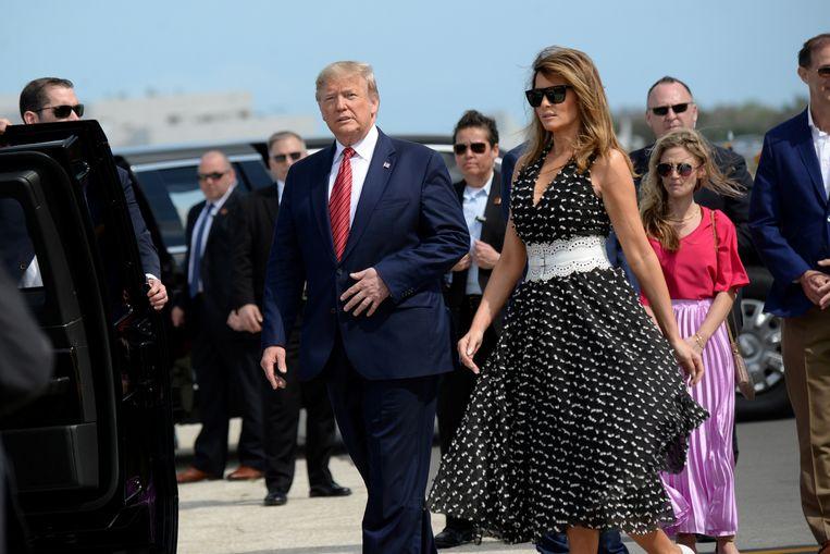 Trump en zijn vrouw Melania in Daytona.