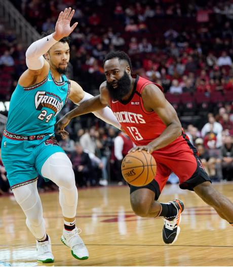 Harden en Westbrook helpen Rockets aan ruime zege
