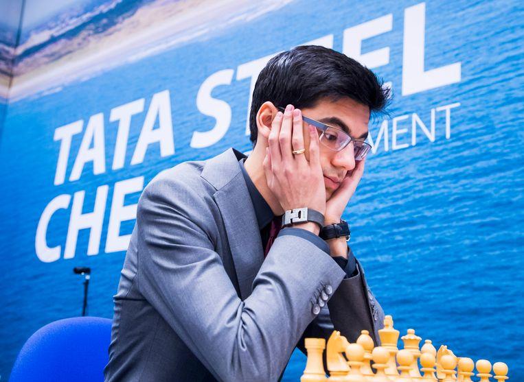 Anish Giri, vorig jaar tijdens het Tata Steel-schaaktoernooi in Wijk aan Zee. Beeld ANP