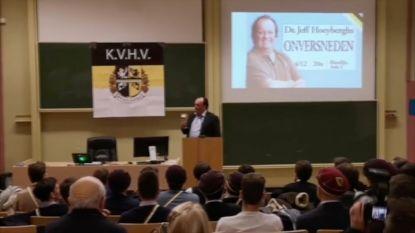 """KVHV distantieert zich niet van lezing Hoeyberghs: """"We zijn al langer een doorn in het oog van de rector"""""""
