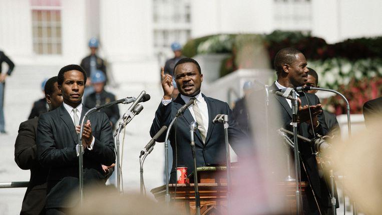 David Oyelowo (midden) als predikant en burgerrechtenactivist Martin Luther King, in de biopic Selma. Beeld Atsushi Nishijima