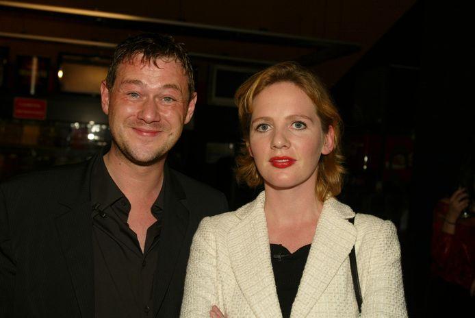 Maaike Cafmeyer en Bart De Pauw in 2003.