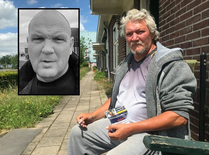 Mario (64) - op het bankje voor zijn huis - mist zijn vriend Henk Wolters (inzet) nog iedere dag, maar verwacht dat nog dit jaar uitkomt wie de moord op zijn geweten heeft.