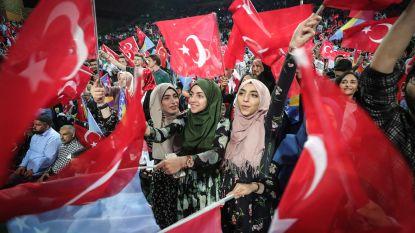Erdogan roept Turken in Europa op massaal op hem te stemmen