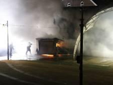 Brand verwoest hok bij theater De Weijer in Boxmeer