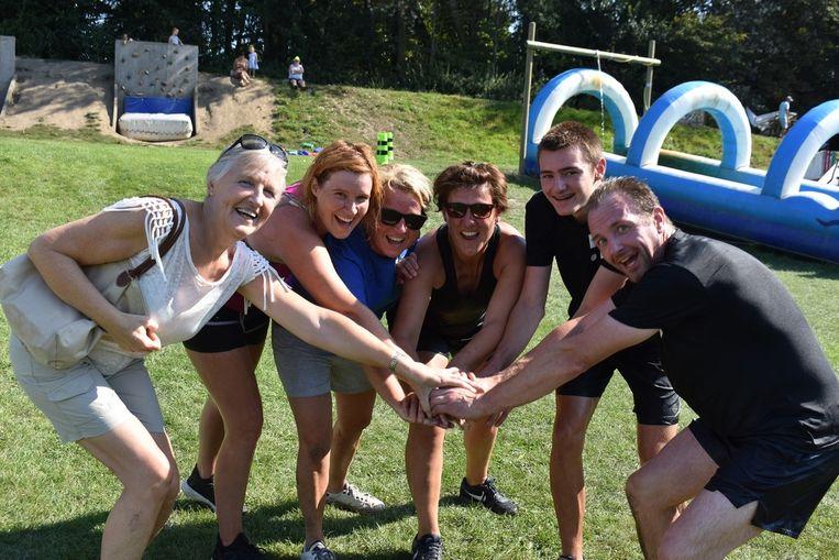 Deelnemers tijdens de eerste Teamtrophy.