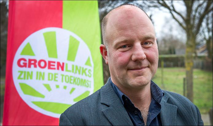 Pepijn Baneke, hier in de aanloop naar de raadsverkiezingen in 2014. De verkiezingen die hem een wethouderspost opleverden voor Mook en Middelaar.