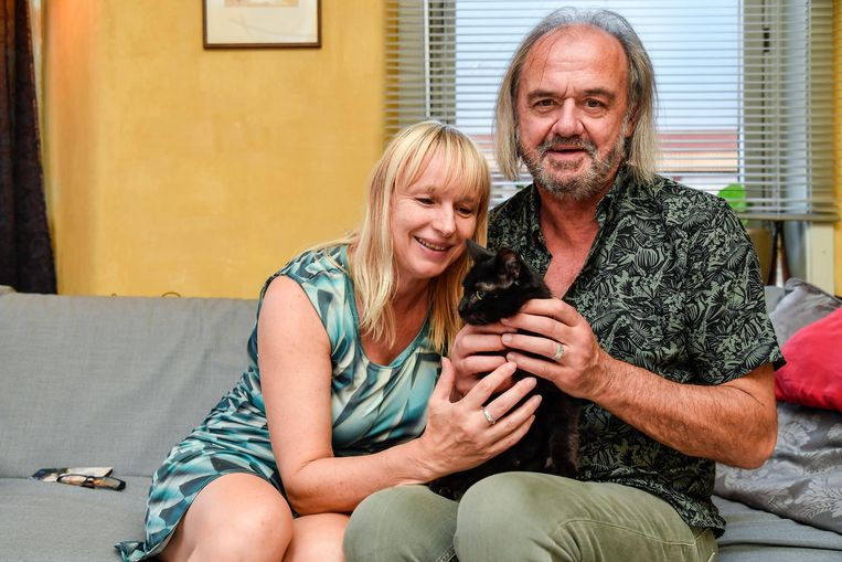 Bij Christelle Van Wettere en haar vriend Michel Van De Vreken is Sprotje méér dan welkom.