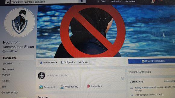 Een beeld van de facebookpagina.