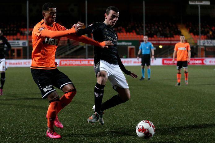 Antoine Rabillard scoorden namens Go Ahead Eagles eerder dit jaar twee keer in Volendam (2-2).