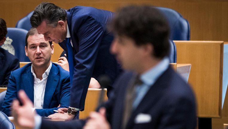 Linkse kopstukken in de Kamer: Asscher, Roemer en Klaver. Beeld Freek van den Bergh / de Volkskrant