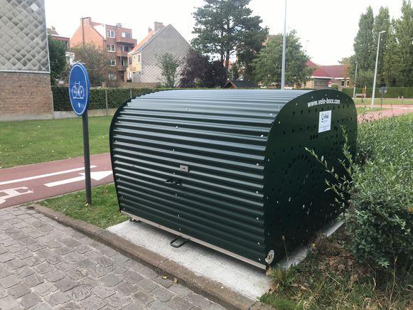 Krijgen we in Snaaskerke straks dergelijke fietsboxen of fietstrommels te zien, zoals hier in Oostende?