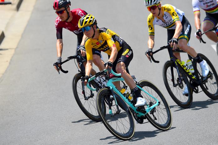 Antwan Tolhoek (midden) reed eerder dit jaar al de Tour Down Under.