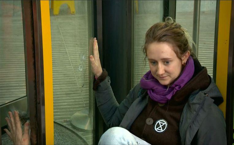 Milieuactiviste in Londen.
