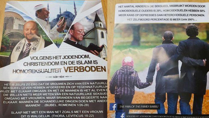 De bewuste flyer die in West en Nieuw-West is verspreid.