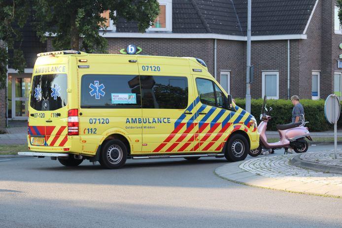 Bij een ongeluk in het centrum van Barneveld op zaterdagochtend raakte een vrouw gewond.