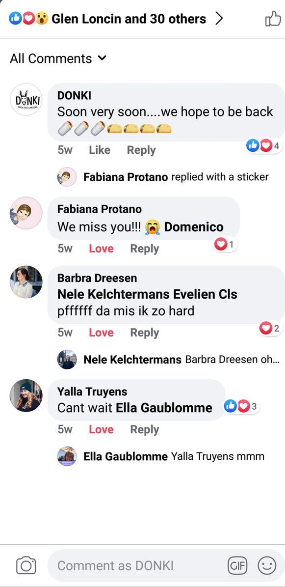 Donki krijgt veel leuke berichten van klanten op de sociale media nu ze besloten hebben om toch afhaalgerechten aan te bieden.