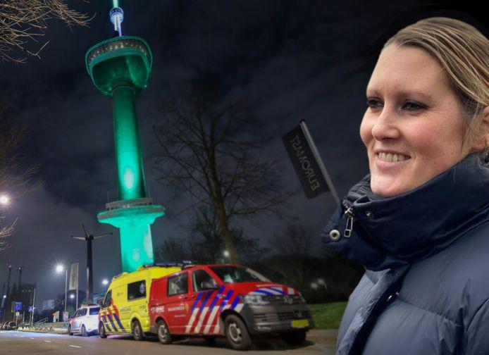 Lerares Maartje van Daalen zat urenlang vast in de Euromast-lift.