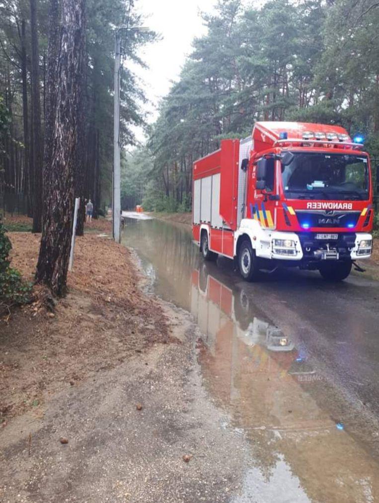 Ook in Scherpenheuvel-Zichem moest de brandweer uitrukken