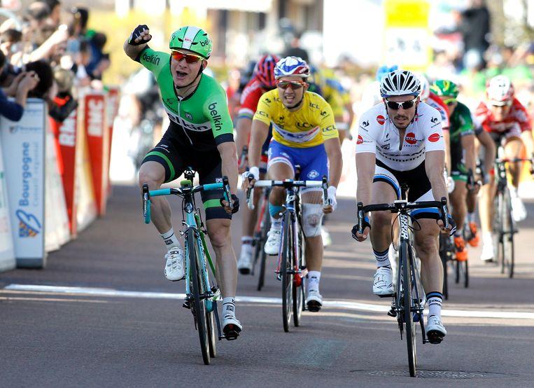 Moreno Hofland zegevierde vorig jaar in de tweede etappe. Beeld epa