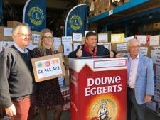 D.E.-waardepunten Lionsclub Loon op Zand-Udenhout: 922 pakken koffie voor Voedselbank