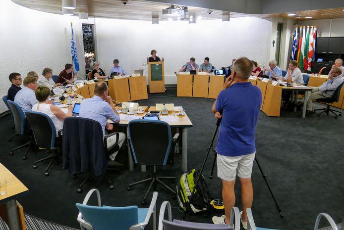 De gemeenteraad van Haaren tijdens de bespreking van het bestuursakkoord, donderdag 31 mei.