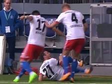 Raakt Müller hier zwaar geblesseerd bij juichen na goal?