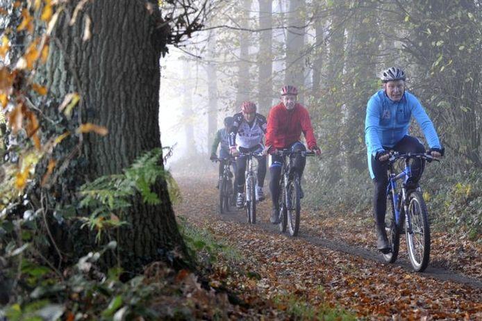 Mountainbikers tijdens een eerdere mtb-tocht.