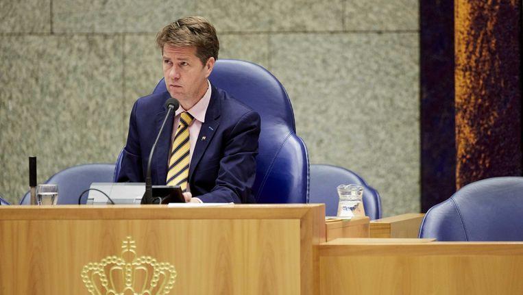 Martin Bosma van de PVV heeft zich officieel kandidaat gesteld voor het voorzitterschap van de Tweede Kamer. Beeld anp