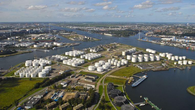 Luchtfoto van de Amsterdamse haven. Foto ANP Beeld